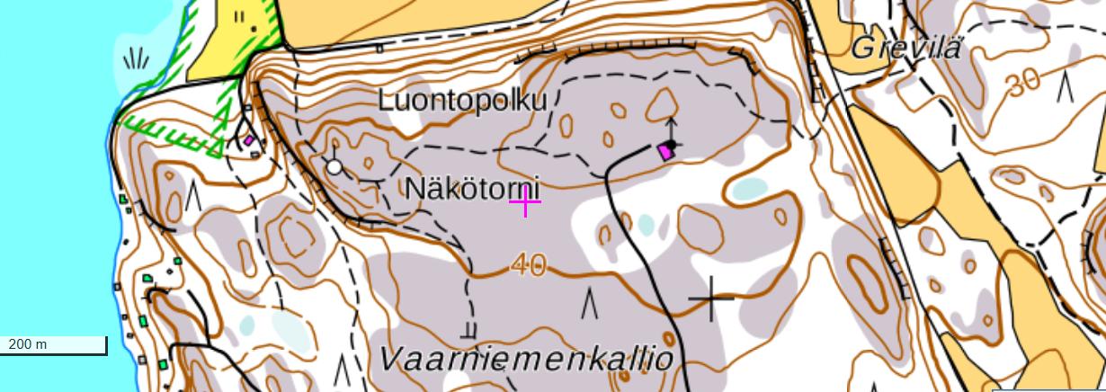 näkötorni kartalla